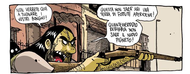 'No vais a venir aquì a tocar vuestros tambores!' Lucha armada contra la gentrificacion en Roma (Zerocalcare)