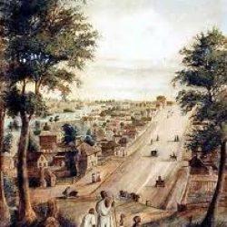 Collins Street, Melbourne, 1839: los aborígenas observan desplegarse la ciudad colonial de la cual son segregados
