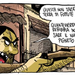 Lotta armata contro la gentrification a Roma (da 'Dodici' di Zerocalcare)