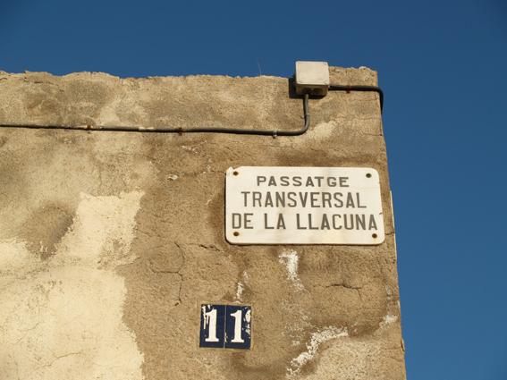 Placa del passatge transversal_2012_Marta Domínguez Sensada.JPG
